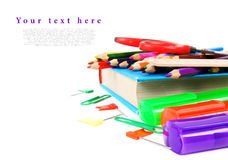 School tools on a white background. Stock Images