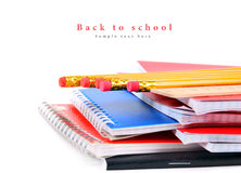 School tools on a white background. Royalty Free Stock Image