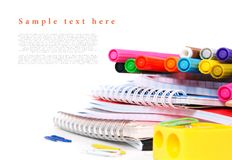 School tools on a white background. Stock Photography