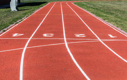 School track. And field turf Stock Images