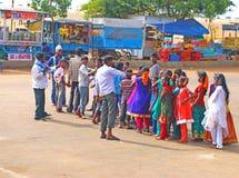 School trip to the beach chennai madrass india Stock Photos