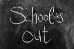 School uit stock foto