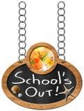 School uit - Bord met Ketting vector illustratie