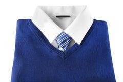 School uniform for boy. On white background stock photos
