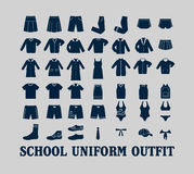 School Uniform Clothes Stock Photo