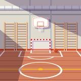 School of universitaire gymnastiekzaal vector illustratie