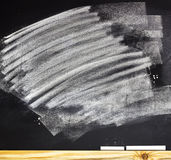 The school or university blackboard with threadbare chalk Stock Image