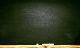 The school or university blackboard with threadbare chalk Royalty Free Stock Image