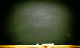 The school or university blackboard with threadbare chalk Royalty Free Stock Photography