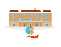 School and university building icon Royalty Free Stock Photography