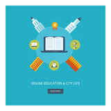 School and university building icon. Urban Stock Images