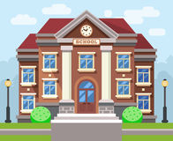 School or university building. Vector flat education concept Stock Images