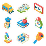 School, university and education isometric 3d flat Royalty Free Stock Photography