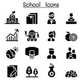 School, University, high school & Education icon set. School, University, high school Royalty Free Stock Photography