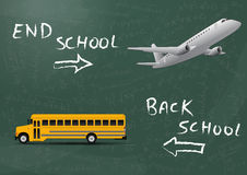 School and vacation Stock Image