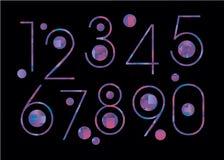 School van het het symboolcijfer van het aantal de vectorontwerp vector illustratie