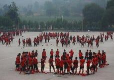 School van Shaolin-Tempel Stock Fotografie