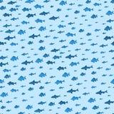 School van Vissen Overzeese Naadloze Patroonachtergrond Vector vector illustratie