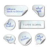 School Vector Banners Royalty Free Stock Images