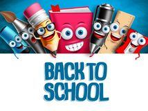 School vector characters education background template Royalty Free Stock Photography