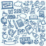 School Vector Doodles Stock Photo