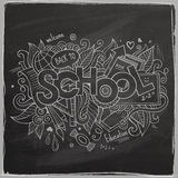 School Vector hand lettering On Chalkboard Royalty Free Stock Photos