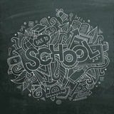 School Vector hand lettering and doodles elements Royalty Free Stock Images