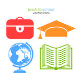 School vector icons Stock Images