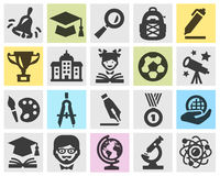 School vector logo design template. Stock Image