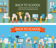 School vector logo design template. education or Stock Photos
