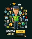 School vector logo design template. education or Stock Photo
