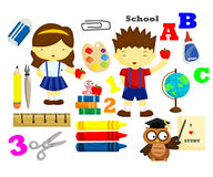 School Vector Set Royalty Free Stock Photo