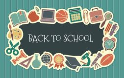 School vintage seamless background Stock Photo