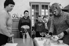 School voor kinderen met intellectuele handicaps stock afbeeldingen
