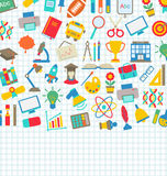 School Wallpaper with Place for Your Text Royalty Free Stock Photo