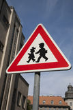 School Warning Sign Royalty Free Stock Photo