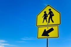 School Warning Sing, Nevada Royalty Free Stock Photography