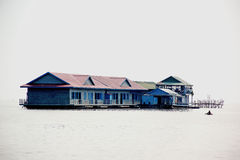 A school in the water. Royalty Free Stock Photography