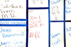 School Whiteboard Stock Images