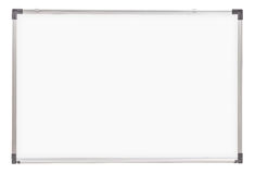 School whiteboard or board isolated. On white Royalty Free Stock Photography
