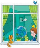 School window Royalty Free Stock Image