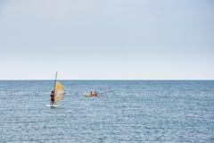 School of windsurf Stock Image