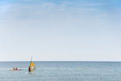 School of windsurf Stock Photography