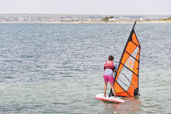 School of windsurf Stock Images