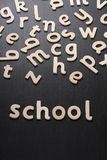 School Wooden Letters Stock Image