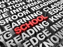 School word Stock Photo