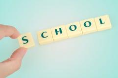 School word Royalty Free Stock Photo