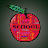 School word cloud apple Royalty Free Stock Photo