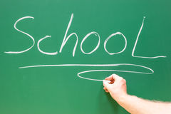 School word on a drawing board Royalty Free Stock Photography