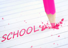 School word Royalty Free Stock Photo